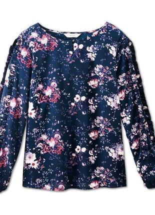 Красивая новая женственная блуза оригинального кроя от tcm tchibo.