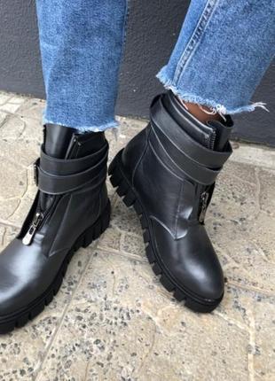 Ботинки деми, кожаные ботинки, ботинки