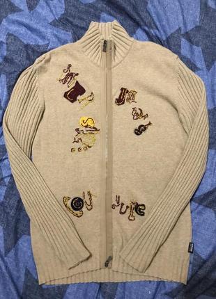 Дизайнерский свитер на молнии ,оригинал ,шерсть ланы ,лимит.линейка