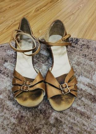 Туфли атласные бальные