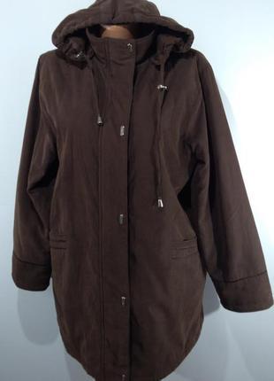 Женская утепленная куртка весна - осень размер 50