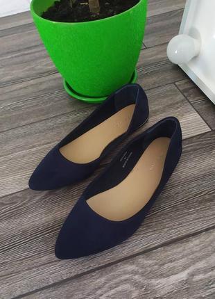 Сьильные туфли лодочки на низком ходу