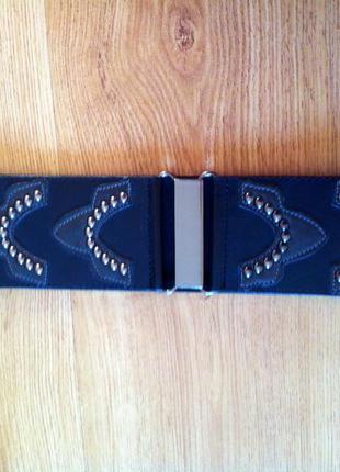 Пояс черный сзади на резинке широкий h&m