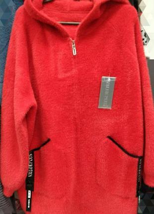 Шикарное кардиган пальто, альпака италия, размер 50-56