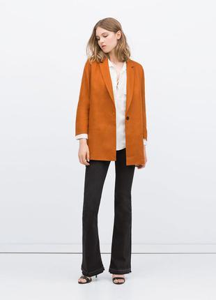 Шикарный льняной горчичный пиджак