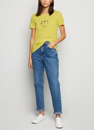New look, яркая футболка с принтом uk 10 на наш 44-46 новая.