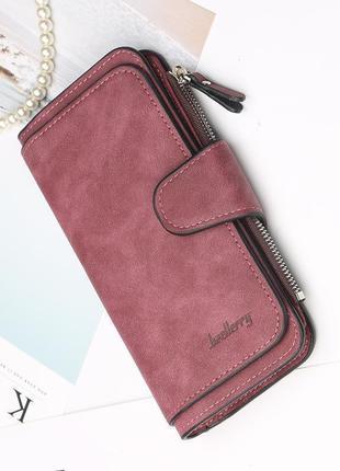 ⭐️супер цена💥новый стильный замшевый кошелек портмоне baellerry forever / клатч