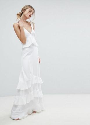 Y.a.s атласна вечірня сукня з рюшами