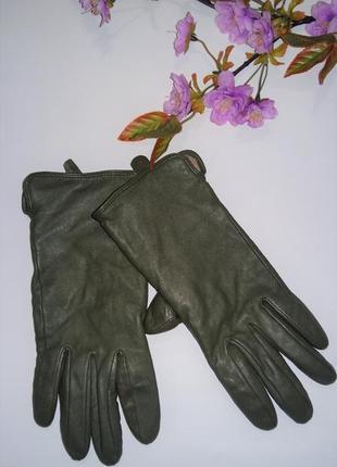 Женские утепленные перчатки h&m кожа