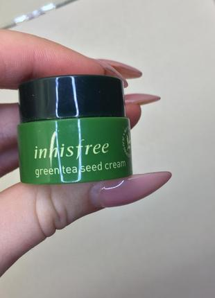 Крем с экстрактом зеленого чая innisfree green tea seed cream {миниатюра}