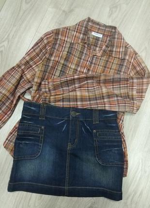 Спідничка міні джинс
