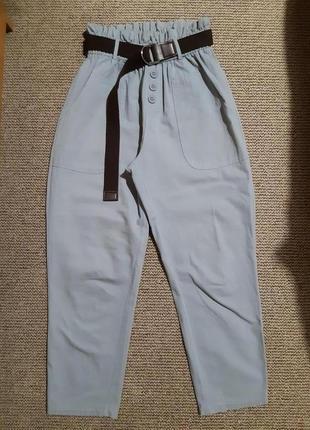 Летние брюки с высокой посадкой olko