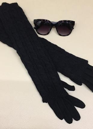 Тёплые двойные длинные перчатки
