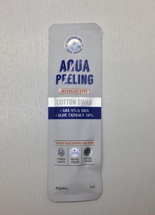 Палочка-пилинг с ана-8% a'pieu aqua peeling cotton swab