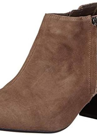 Ботинки женские clarks 24см 24.3см натур.замша