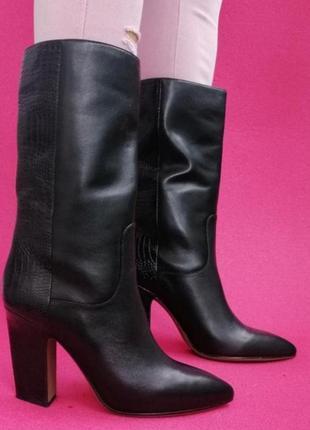 Шикарные кожаные брендовые сапоги деми 39 р