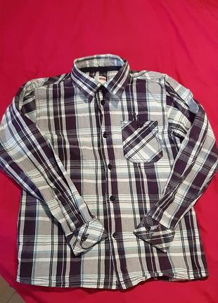 Рубашка в клетку сорочка