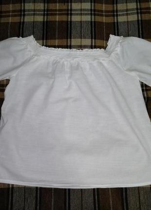 Суперовая блузка с открытыми плечами хлопок пог 64 см