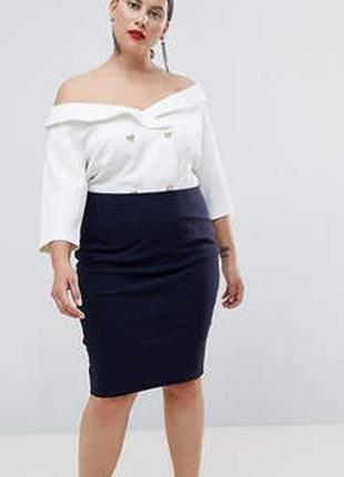 Ralph lauren брендовая юбка#спідниця коттон#натуральная кожа, большой размер.