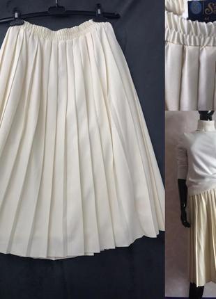 Шикарная юбка плиссе м/л