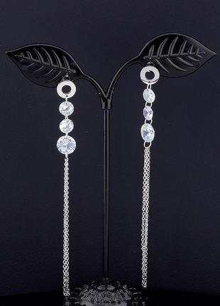 Серьги 'fashion' сrystal (родий) 0571170