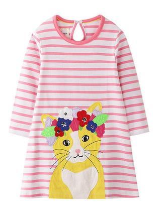 Очаровательное платье с апликацией котик