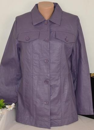 Брендовая кожаная демисезонная куртка пиджак centigrade