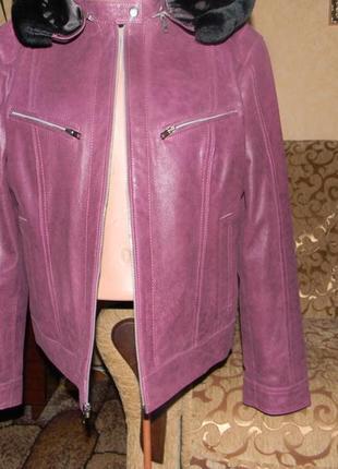 Куртка с капюшоном кожа  xl-xxl