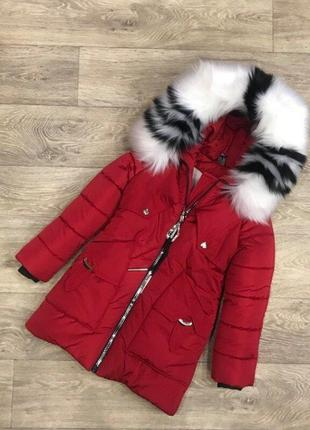 Распродажа остатков, тёплая зимняя куртка для девочки