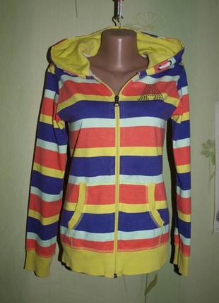 Бомбезная толстовка, худи, кофта,мастерка на молнии девочке -148-156 - tom tailor