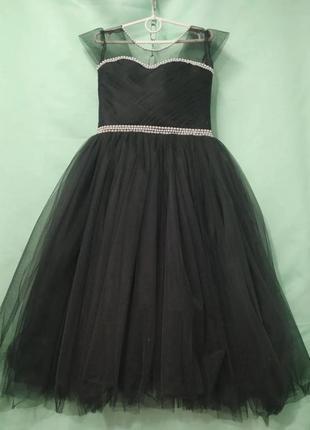 Платье 6-7 лет бальное фатиновое пышное нарядное праздничное впол макси длиное