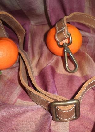 Мягкая и прочная кожаная ручка для сумки на карабинах ширина 2см