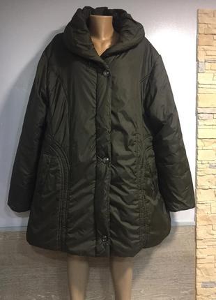 Тёплая куртка большой размер ❤️❤️522