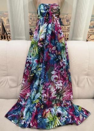 Яркое длинное платье, сарафан от ocean club