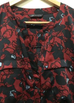 Удлинённая блуза marks&spenser p. 16/44. #228. 1+1=3🎁3 фото