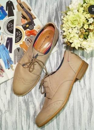 🌿40🌿европа🇪🇺 tamaris. кожа. стильные туфли с европы