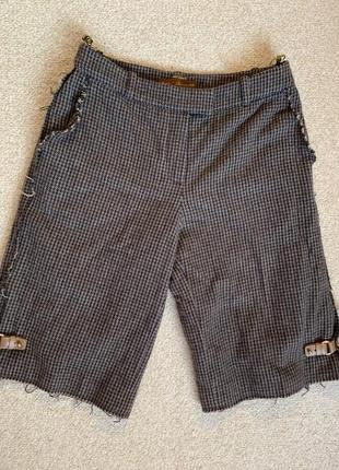 Франция кашемировые бриджи кашемир 100% кашемировые  брюки укороченные