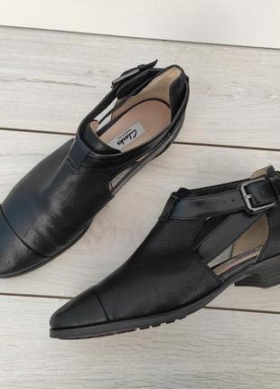 Фирменные кожаные полуботинки туфли clarks