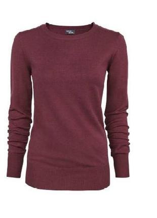 Джемпер, пуловер цвета марсала s 36-38 euro, свитер esmara by heidi klum, германия