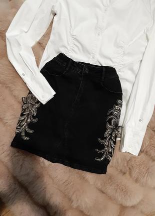 Шикарная джинсовая юбка, юбочка🔥