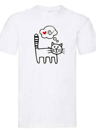 """Парные футболки push it с принтом """"кот и мышь"""""""