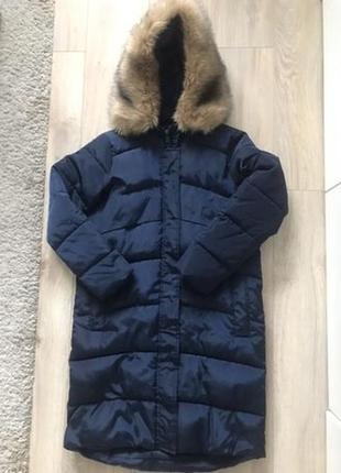 Куртка пальто пуховик дутый мех