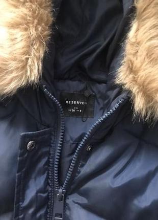 Куртка пальто пуховик дутый мех2 фото