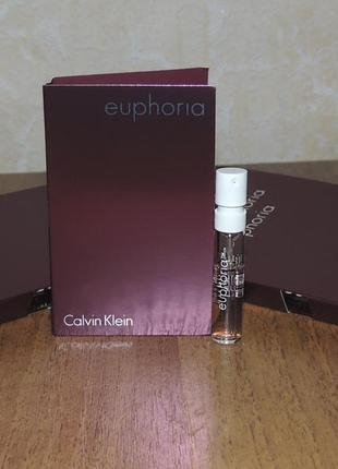 Calvin klein euphoria 1,2 мл пробник парфюмированной воды для женщин оригинал