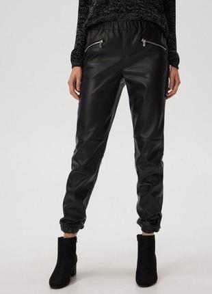 Кожаные штаны/ джоггеры sinsay новые, размер м