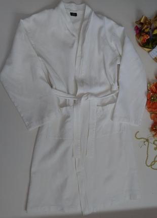 Мужской белый халат размер 52-54