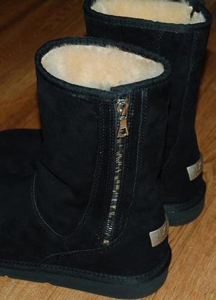 Кожаные оригинальные сапоги на овчине 41 р ugg отличное состояние