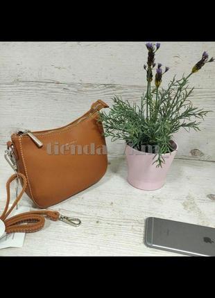Женская небольшая сумка через плечо / клатч  david jones cm5093 рыжий