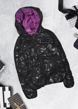 Куртка дутая стеганая с молнией до верха капюшона koolhaas