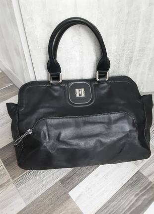 Фирменная кожаная сумка longchamp1 фото